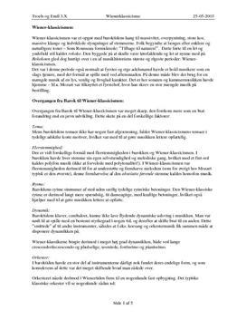 Noter til Wienerklassicismen, Mozart og Beethoven