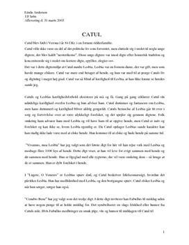 Opgave om Catuls digte