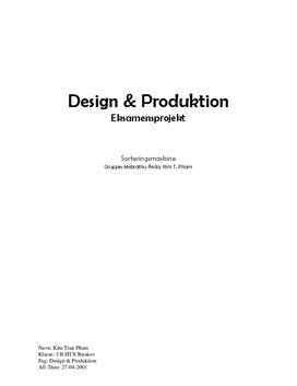 Sorteringsmaskine | Teknikfag - Design & produktion A