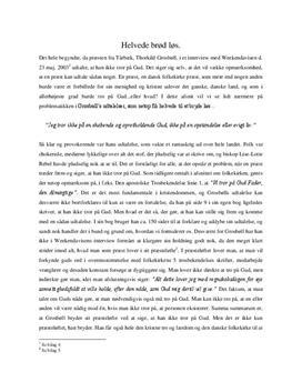 Grosbøll-sagen | Noter