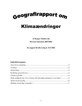 NF | Emneopgave om Global Opvarmning