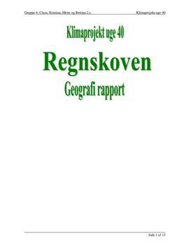 Regnskoven - Rapport i Naturgeografi