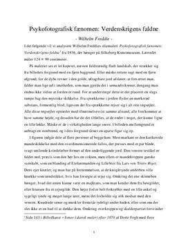 Psykofotografisk fænomen: Verdenskrigens faldne af Wilhelm Freddie