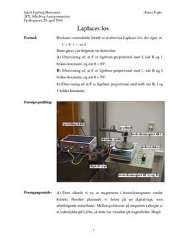 Laplaces lov - Rapport i Fysik