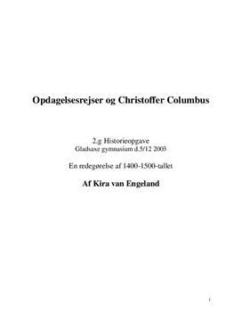 Christoffer Columbus og Opdagelsesrejser