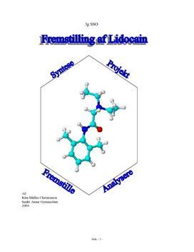 Fremstilling af lidocain ved syntese