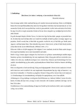 SSO om stress i psykologi med udgangspunkt i case