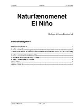 Naturfænomenet El Niño | Naturgeografi C