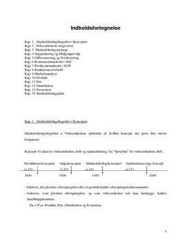 Noter til Markedsføring - Afsætning A noter