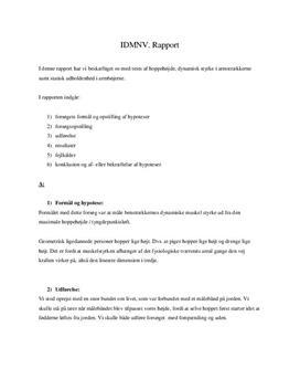 Test: Hoppehøjde, dynamisk styrke og statisk udholdenhed