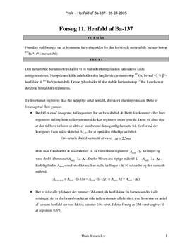 Henfald af Ba-137 | Rapport i Fysik
