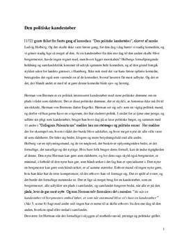 den politiske kandestøber analyse og fortolkning
