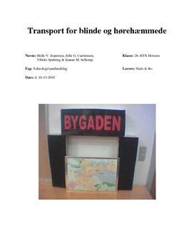 Transport for blinde og hørehæmmede