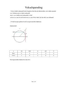 Vekselspænding | Fysik B