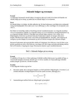 Stående bølger - rapport i fysik
