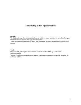 Forsøg med tyngdekraft -  Mekanik | Fysik B