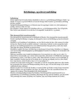 NF | Emneopgave om befolkningsudvikling
