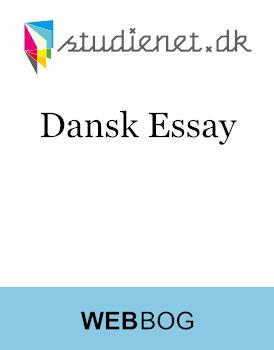 Analysemodel essay dansk