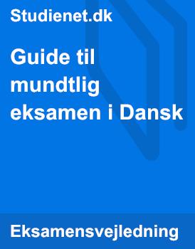 Dansk Mundtlig Eksamen Guide Studienet Dk