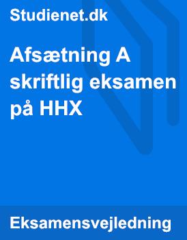 Afsætning A skriftlig eksamen på HHX