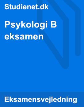 Psykologi B mundtlig eksamen