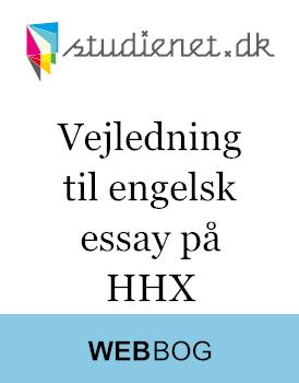 engelsk essay opstilling