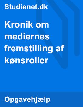 mediernes fremstilling af kønsroller dating dk.