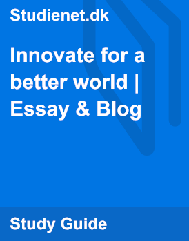 a better world essay Featured essay becoming more human, building a better world by eric hartman what is it all about why engage in service-learning and place-based education—if not.