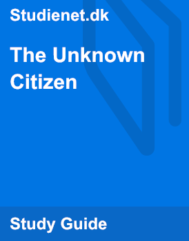 Analysis of the unknown citizen poem essay