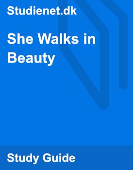 she walks in beauty explanation