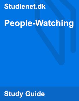 People-Watching | Analysis