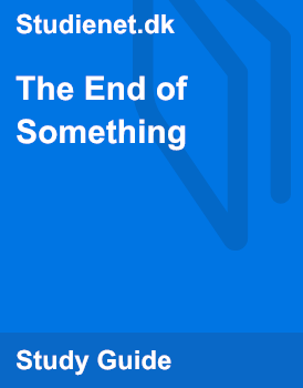 the end of something analysis