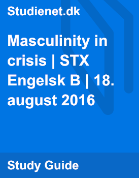 "crisis in masculinity essays Faced with such an anemic definition of masculinity, many american men resort to this, the only model they can think of they put on the ""tough guise"" as a way to feel like a man, and to get the rest of this all-too-human culture."