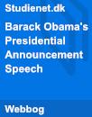 Barack Obama's Presidential Announcement Speech
